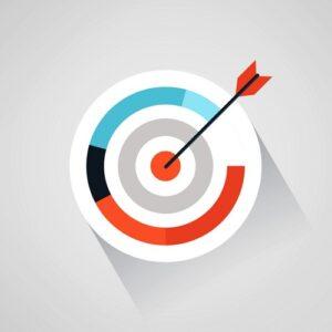 Image d'une flèche dans une cible